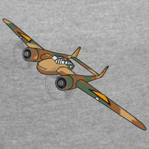Fokker G1 Fighter Plane - Women's T-shirt with rolled up sleeves