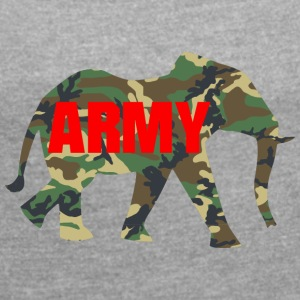 ARMY ELEPHANT - Women's T-shirt with rolled up sleeves