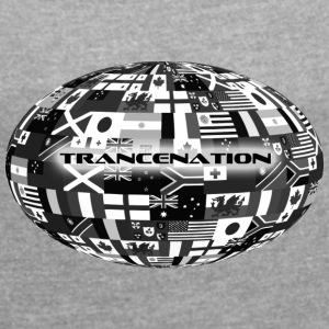 trance nation - Women's T-shirt with rolled up sleeves