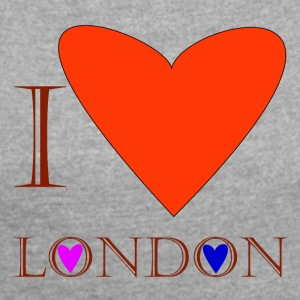 I Love London 1C - Women's T-shirt with rolled up sleeves