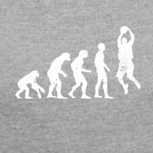 Evolution basketballer basketball sportball - Women's T-shirt with rolled up sleeves
