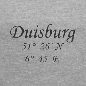 Coordinates Duisburg - Women's T-shirt with rolled up sleeves