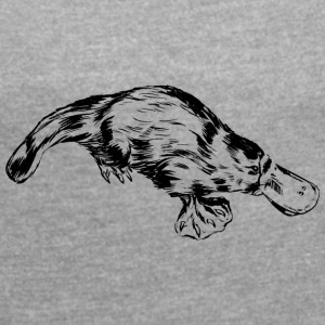 platypus - Women's T-shirt with rolled up sleeves