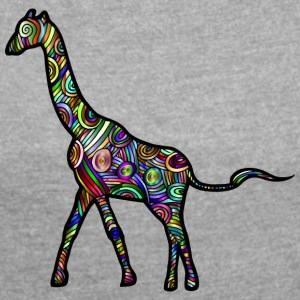 giraffe - Women's T-shirt with rolled up sleeves