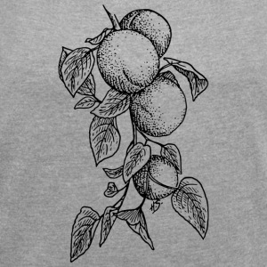 Nectarines pêche pêches nectarines fruits obst2 - T-shirt Femme à manches retroussées