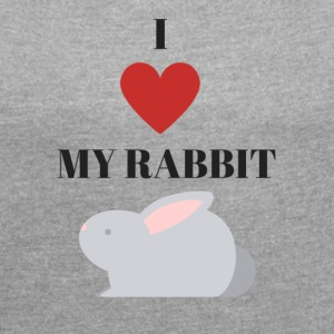 Rabbit - Women's T-shirt with rolled up sleeves