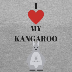 kangaroo - Women's T-shirt with rolled up sleeves