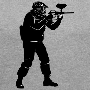 paintball - T-shirt med upprullade ärmar dam