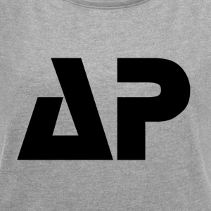 AP Black - Women's T-shirt with rolled up sleeves