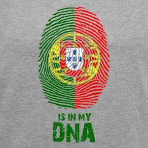 Portugal flag - Made in Portugal - gift - Women's T-shirt with rolled up sleeves