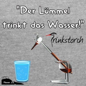 The Lümmel Drinks the water - Women's T-shirt with rolled up sleeves