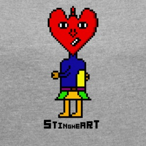 Sting Heart - Women's T-shirt with rolled up sleeves