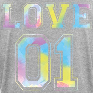 LOVE 01 - Watercolor Edition - Women's T-shirt with rolled up sleeves
