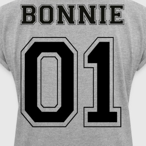 BONNIE 01 - Black Edition - Dame T-shirt med rulleærmer