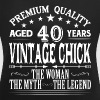 VINTAGE CHICK AGED 40 YEARS - Women's T-shirt with rolled up sleeves