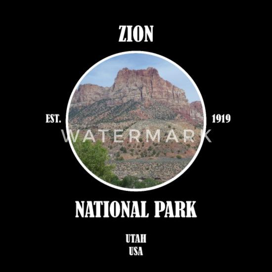 Zion National Park Utah vest Las Vegas USA T skjorte med