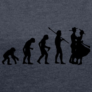 Evolution for Trachtler - Dame T-shirt med rulleærmer
