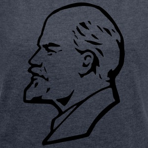 Lenin - Women's T-shirt with rolled up sleeves