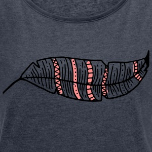 Feather - Women's T-shirt with rolled up sleeves