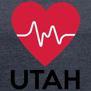 heart Utah - Women's T-shirt with rolled up sleeves