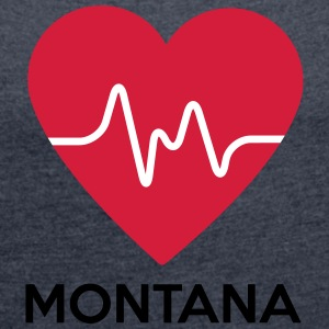 heart Montana - Women's T-shirt with rolled up sleeves
