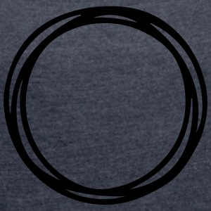 Circles and circles - Women's T-shirt with rolled up sleeves
