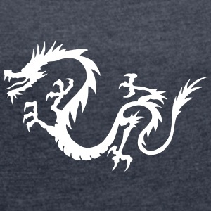 Chinese Dragon - Women's T-shirt with rolled up sleeves