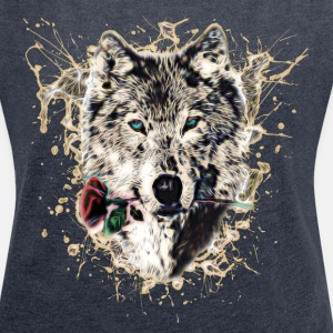 Wolf with Rose, Love Symbol, Varg, Nature