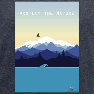 Protect Nature - Women's T-shirt with rolled up sleeves