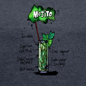 Mojito - Women's T-shirt with rolled up sleeves