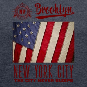 New York City · Brooklyn - Frauen T-Shirt mit gerollten Ärmeln