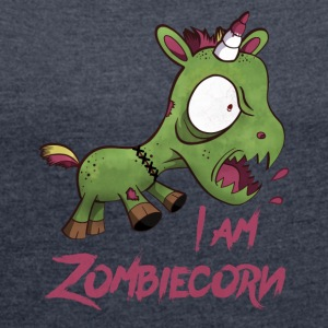 ZOMBIECORN - Women's T-shirt with rolled up sleeves