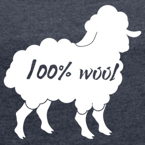 Sheep / farm: 100% Wool - Women's T-shirt with rolled up sleeves