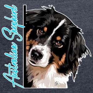 AUSTRALIAN SHEPHERD DA - Women's T-shirt with rolled up sleeves