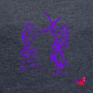 PURPLE SWORD - Women's T-shirt with rolled up sleeves