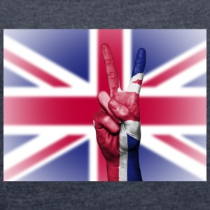 United Kingdom Flag - Women's T-shirt with rolled up sleeves