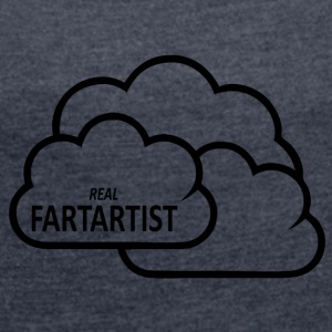Fartartist blak - Women's T-shirt with rolled up sleeves
