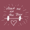 Meet me at the bar - Vrouwen T-shirt met opgerolde mouwen