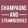 Champagne And Strawberries - Women's T-shirt with rolled up sleeves