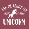 Ask Me About My Unicorn - Women's T-shirt with rolled up sleeves