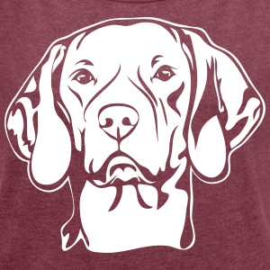 MAGYAR VIZSLA PORTRAIT - Women's T-shirt with rolled up sleeves