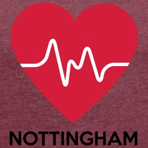 Heart Nottingham - Women's T-shirt with rolled up sleeves