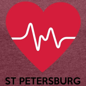 Heart St Petersburg - Women's T-shirt with rolled up sleeves
