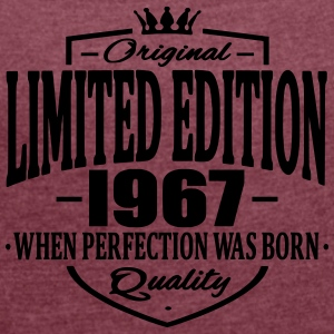 Limited edition 1967 - Women's T-shirt with rolled up sleeves