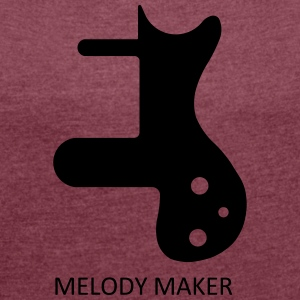MELODY MAKER - Women's T-shirt with rolled up sleeves