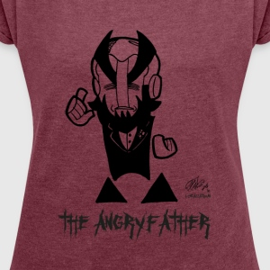 THE ANGRYFATHER - Dame T-shirt med rulleærmer