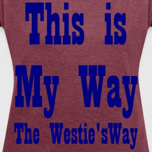 This is My Way Navy - Women's T-shirt with rolled up sleeves