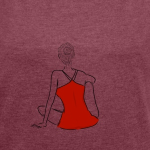 Wondering woman - Women's T-shirt with rolled up sleeves