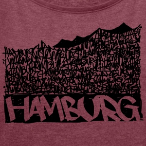 Hamburg Music Hall - Black - Women's T-shirt with rolled up sleeves