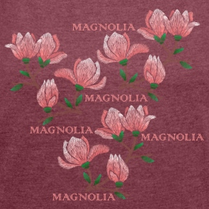 Magnolia - Women's T-shirt with rolled up sleeves